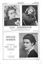 1939 KAY BANNERMAN Phyllis Barker Evelyn Barnard DIANA Barton