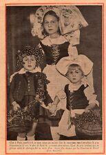 PARIS COSTUMES ALSACIENS ENFANT ALSACE IMAGE 1932 OLD PRINT