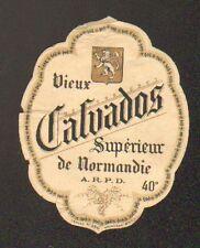 """ETIQUETTE Chromo ANCIENNE de VIEUX CALVADOS Superieur """"A.R.P.D."""""""