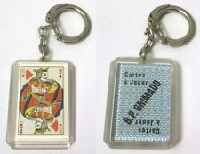 Portachiavi Re di Quadri in plexiglass Cartes A Jouer B.P. Grimaud