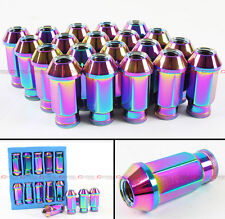JDM NEO CHROME EXTENDED WHEEL RIM LUG NUTS FOR SUBARU IMPREZA WRX STI LEGACY