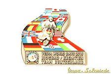 """METALLO-PLACCA """"VESPA WORLD DAYS 2015"""" Biograd-ARGENTO - 75 pezzi in tutto il mondo!"""