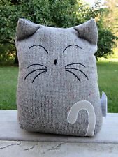Cat Doorstop Fabric Home Accent Decor Novelty New 10 x 7 in. door stop