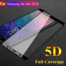 5D Screen Protector Tempered Glass Protective For Samsung A6 Plus 2018 A9 A7 A8