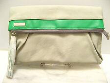 Retired MICHE PURSE Hip Bag Cross Body - PORTER Grey Green Faux Leather w/ Strap