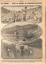 Ambulance Gare Strumitza-Station Bridge Vardar Balkan War Serbia Serbie WWI 1915
