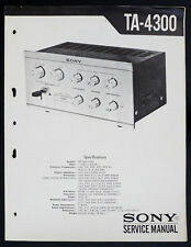 Sony ta-4300 Original Pre-Amplifier/préamplificateur service-manual/Diagram o146