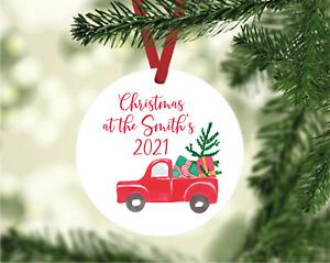 Personalised Family Name Christmas Tree Decoration
