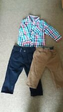 Boys 9-12months checked shirt and smart trouser bundle. Hardly worn.