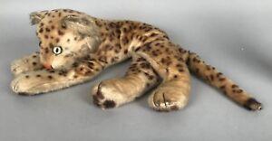 "Vintage Steiff Leopard 2343 18"" Long - Nice Patina - Ex cond Yellow Eyes"