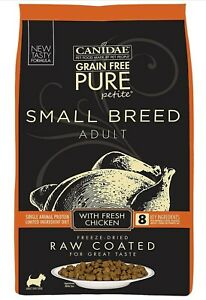 CANIDAE Grain Free Pure Petite Small Breed Raw Coated Dry Dog Food Chicken