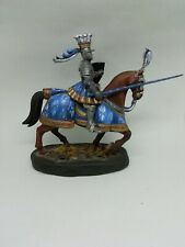 Cavalier médiéval en plomb peint