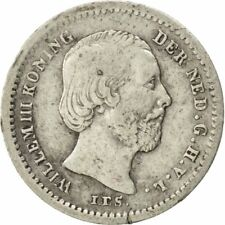 [#26841] Munten, Nederland, William III, 5 Cents, 1850, ZF, Zilver, KM:91