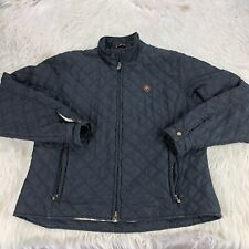 Ariat Women's L Black Quilted Zip Front Jacket Rinding Equestrian