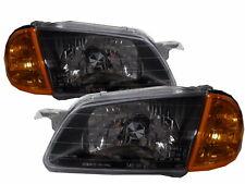 Familia BJ 1998-2000 Sedan/Wagon Clear Headlight Headlamp BLACK V2 for MAZDA LHD