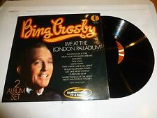 BING CROSBY - Live At The London Palladium - 1976 UK 24-track double LP