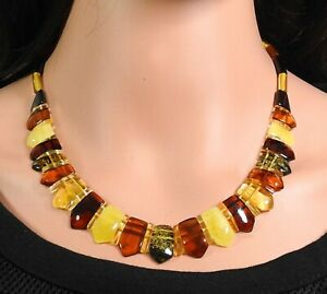 Amber Halskette Colourful Multicolour Natural Jewelry Made From Handmade