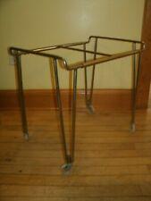 Vintage Mid Century Modern TV Cart Metal Stand Table 1950s 1960s mcm hairpin leg