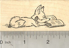 Reading Fox Rubber Stamp, Kits and Kids Need to Read J25615 Wm