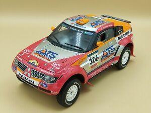 1/18 Mitsubishi Pajero Evo Rallye Raid Paris Dakar 2005 Solido ref: 9066 No Box