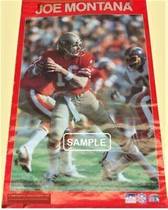 '88 Vintage Original STARLINE~ Poster~SEALED!~ JOE MONTANA [49ers]  2' x 3' MINT