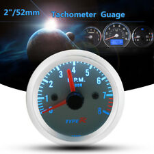 Universal 2'' 52mm Auto Car 0-8,000RPM Tachometer Gauge Pointer Tacho Meter