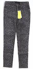 NWT Karen Millen Gray Multi Leopard Printed Skinny Jeans Size 4