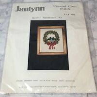Janlynn Cross Stitch Kit  Christmas Wreath #124-06 New Factory Sealed