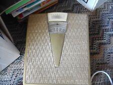 Vintage Detecto gold & wicker look bathroom scale