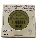 Vintage Token, Armstrong Cheese Co-Op B.C. Quart Milk Coin Token P5