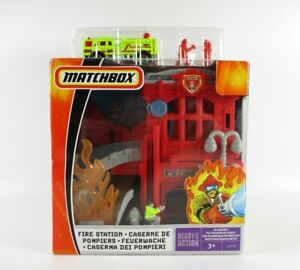 Matchbox Fire Station Set New In Box
