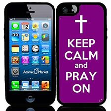Purple Keep Calm and Pray On For Iphone 6 Case Cover