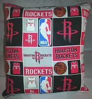 Rockets Pillow Houston Rockets Pillow NBA Basketball Handmade in USA