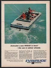 1967 Evinrude Rogue Gull Wing Boat Ad Vintage Boating Advertising