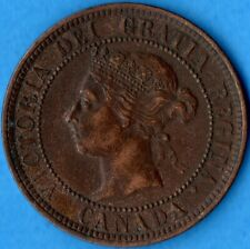 Canada 1886 1 Cent One Large Cent Coin - EF