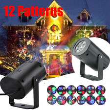 Waterproof Holiday Christmas Garden Decorative Lamp 12 Patterns Projector Lights