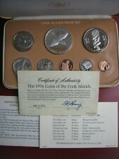 Cook Islands 1976 Proof 8 Coin Set: 1 Cent - $5 Silver Dollar COA Info Cased