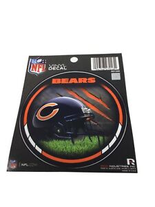 """Lot Of 5 ~ Chicago Bears NFL Football Round Vinyl Decal Sticker 4.5"""" ~ New"""