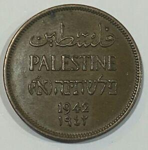 1942 British Palestine 1 Mil Coin
