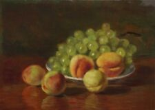 Öl-Gemälde alt antik Impressionismus Romantik Jugendstil Früchte Stillleben 1900