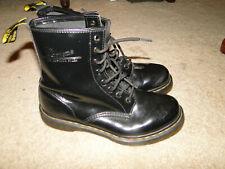 Dr. Martens Women's Leather Lace Up Boots - Black Patent Lampe Sz 9 us 7uk