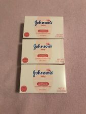 Lot Of 3 Johnson'S Baby Bar Mild and Gentle for Baby Skin 3oz bars Free S