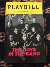 Jim Parsons,Matt Bomer,Andrew Rannells And Cast Signed Boys In The Band Playbill