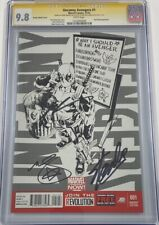Uncanny Avengers #1 Deadpool Call Me Maybe B&W Sketch Signed Stan Lee CGC 9.8 SS