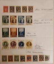 LOTTO FRANCOBOLLI VATICANO NUOVI E LINGUELLATI  SERIE COMPLETE DAL 1940 AL 1952