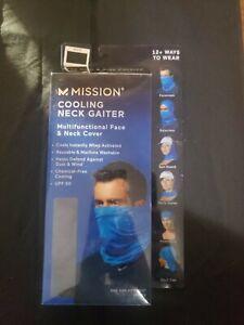 Mission Adult Cooling Neck Gaiter Multifuntional Face & Neck Cover~Mask~Black
