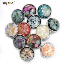 12pcs/lot 18mm Snap Button Crystal Texture Acrylic Charms For Snap Jewelry HM110