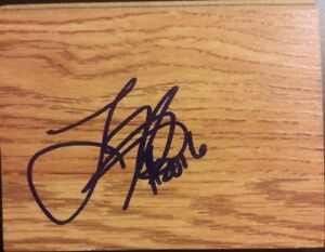 Larry Hughes Cleveland Cavaliers/Washington Wizards Autographed Floorboard