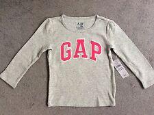 GAP Girls' Long Sleeve Sleeve Cotton Blend T-Shirts & Tops (2-16 Years)