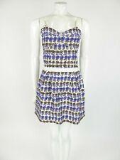Cacharel Silk Sleeveless Summer Dress Size 8 UK
